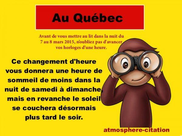 changement d'heure au Québec