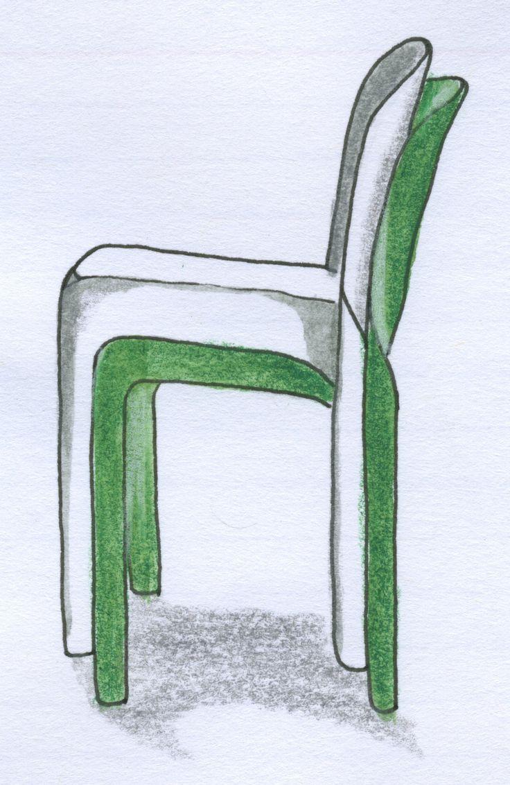Selene chair Magistretti