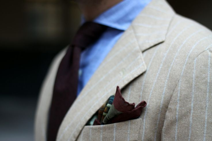 DLA Defense of Sampo-pocket-square-with-flannel-suit-and-chambray-shirt