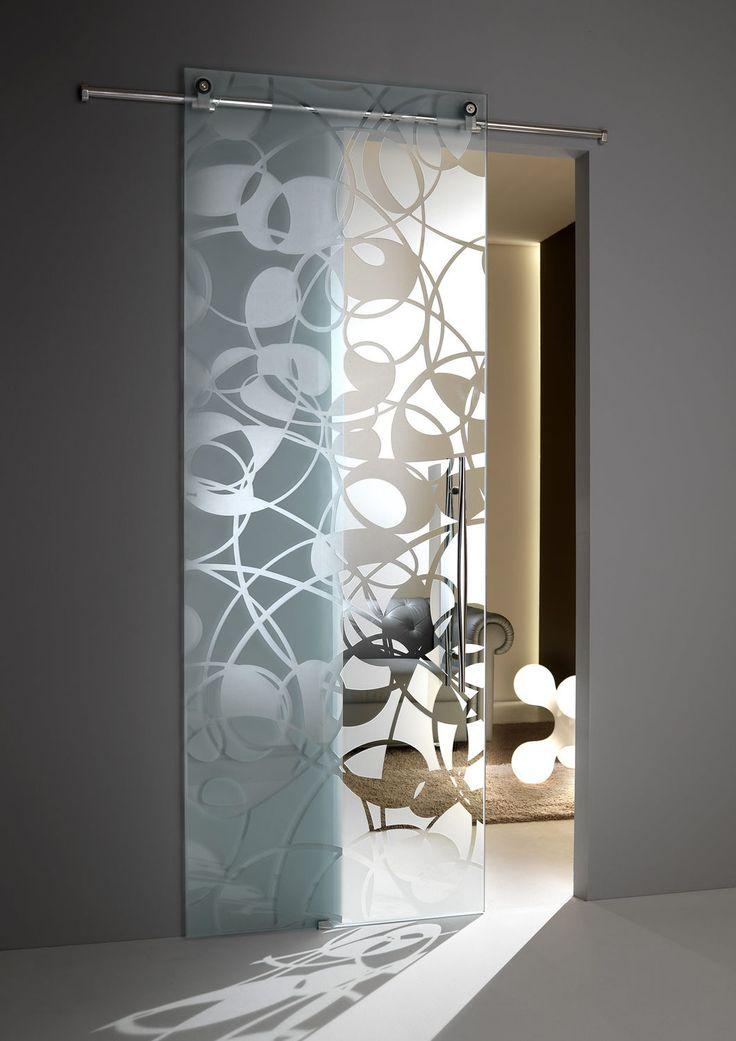 Sliding door / glass / printed FLY Casali