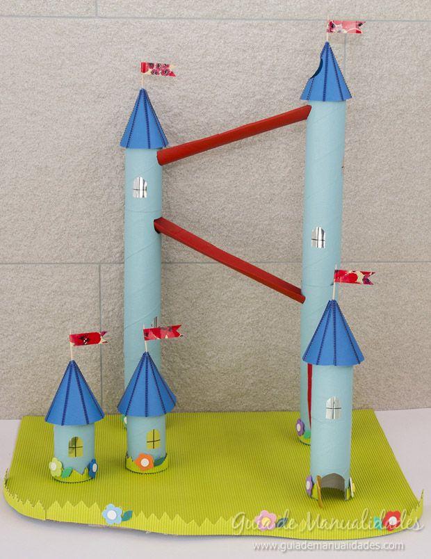 Castillo de canicas con tubos de cartón #manualidades #DIY