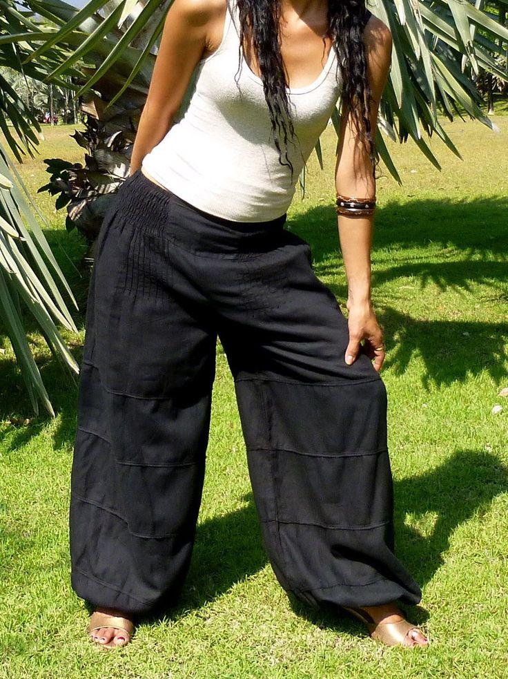 Salwar Pants Harem Pants Women Aladdin Pants Yoga Pants Baggy Genie Pants H4S-S