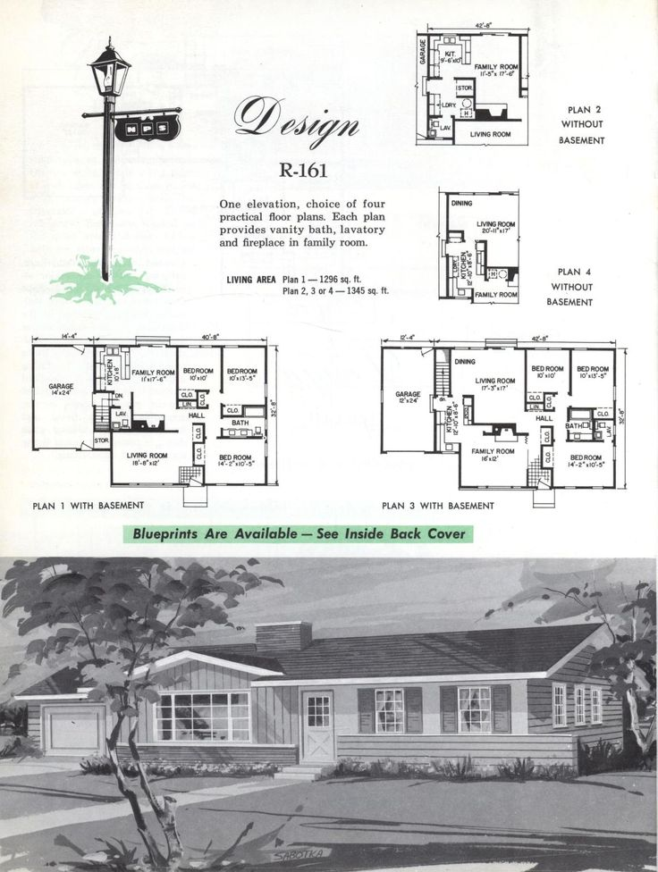Colonial Homes 1963 Vintage House Plans 1960s House