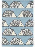 Spike Wool Rug Blue