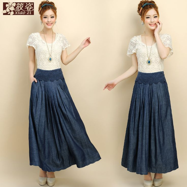 Wonderful With Your Jean Skirt Check Out These Nice Jean Skirts And Tops That