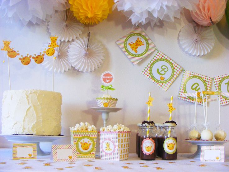 Kit de fiesta jirafa fiesta de ni os baby shower for Decoracion cumpleanos nino
