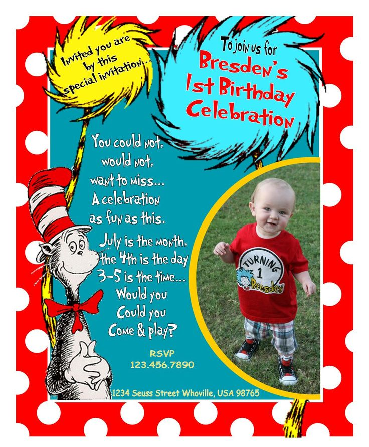 134 best Mackenzie first birthday ideas images on Pinterest Dr - invitation card for ist birthday