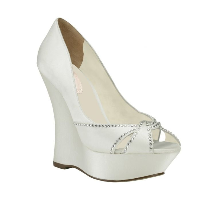wedge heel wedding shoes 25 best ideas about bridal wedges on wedding 1235