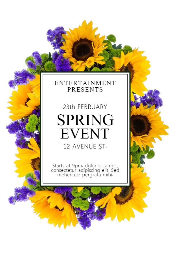 Spring Event Festival Flyer Poster Social Media Graphic Design