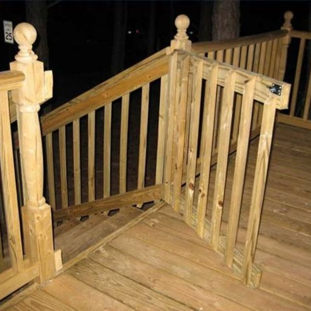 How To Build A Gate For A Deck Nice Gates And Decks
