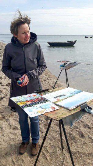 Fischerboote am Strand zwischen Thiessow und Klein Zicker | Fischerboote malen am Strand zwischen Klein Zicker und Thiessow (c) Frank Koebsch (4)