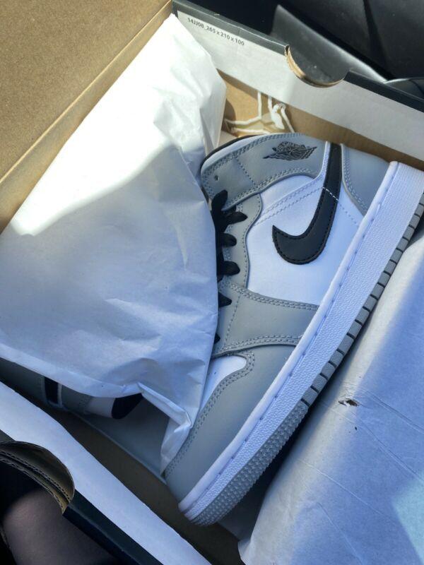 Nike Air Jordan 1 Mid Gs Light Smoke Grey Black White 554725 092 Sz 7y New Ds Athletic Shoes Ebay Link Air Jordans Nike Air Jordan Jordan 1 Mid
