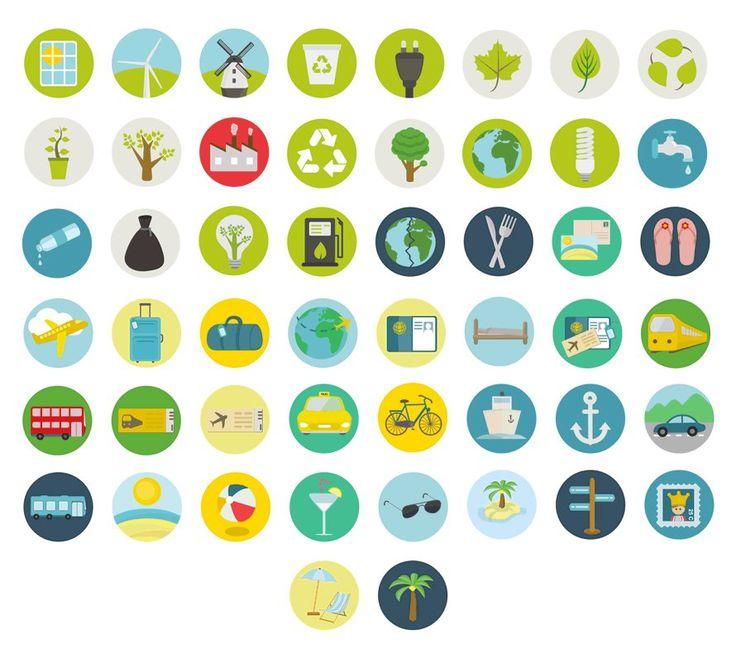 Free-Travel-and-Ecology-Icon-Set