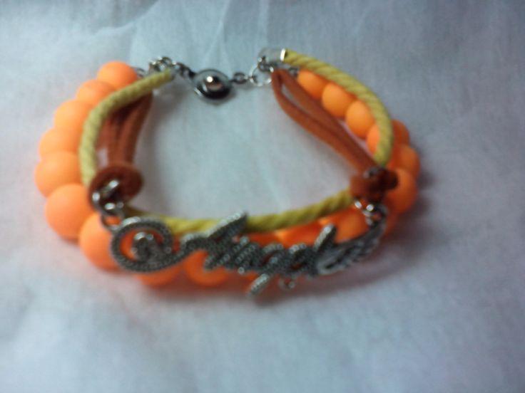 Orange teen bracelet