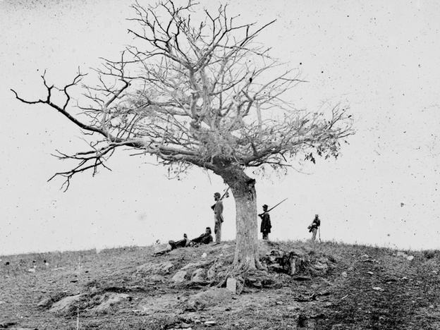 """One of my favorite photographs from the American Civil War: Alexander Gardner's original caption for this image was """"A Lone Grave, on Battle-field of Antietam."""""""