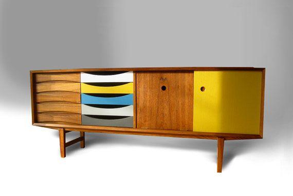 Mid century modern Teak Credenza Cabinet - FREE SHIPPING - Do you like Danish designers like Arne Vodder and Finn Juhl? on Etsy, $1,999.00
