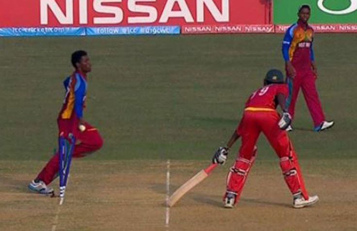 Controversy grips U-19 World Cup as West Indies 'mankad' Zimbabwe to ent...