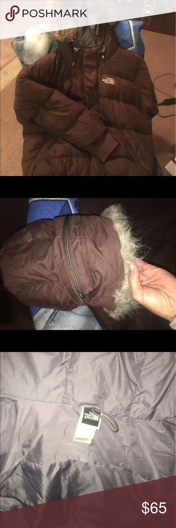 North face winter coat . North face winter coat. In great shape only worn a handful of times. Brown nice n warm n comfy. North Face Jackets & Coats Puffers