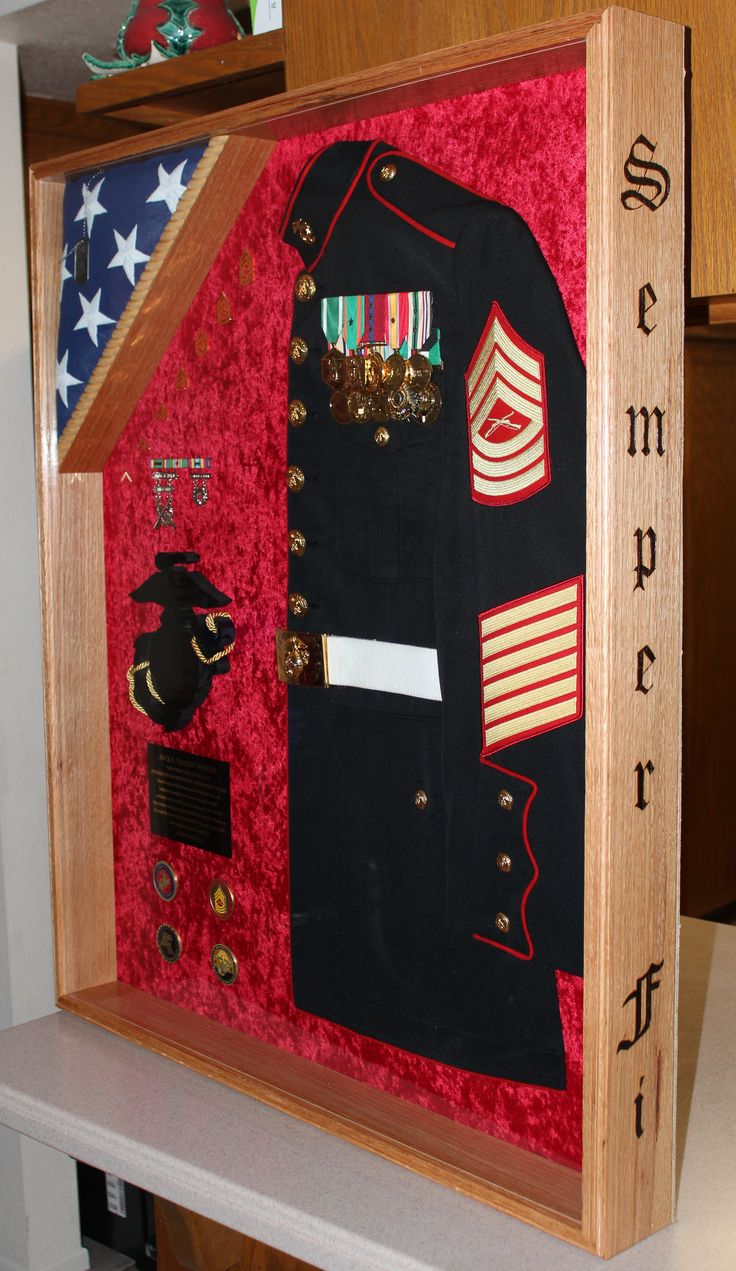❤️ the Semper Fi on the side   USMC shadow box Questions on design or price contact Lunawood1775@gmail.com