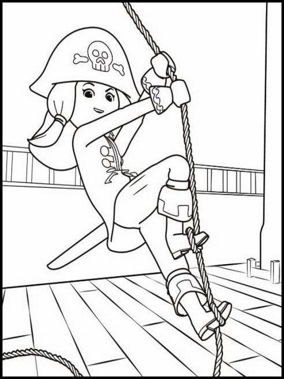 Dibujos Para Imprimir Y Pintar Para Niños Super 4 Playmobil 12
