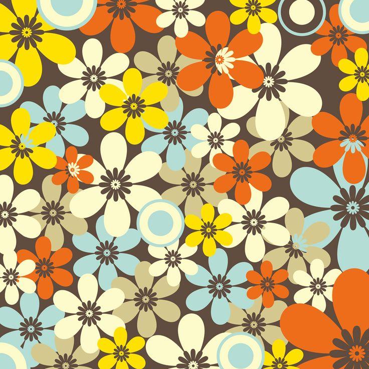 [フリーイラスト素材] イラスト, 背景, 植物, 花, 花柄 ID:201312221700