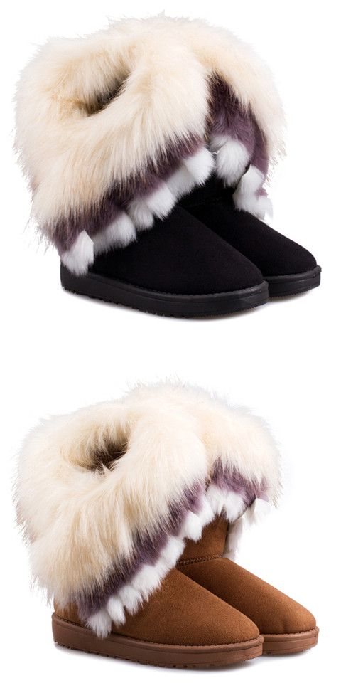 black uggs with fur trim