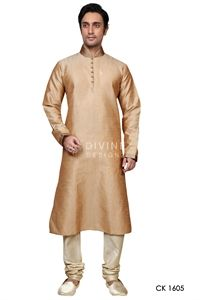 Show details for Mens Kurta Pyjama in Gold/Orange