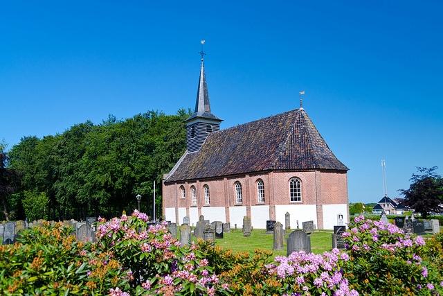 Church Noordwolde in Friesland, The Netherlands