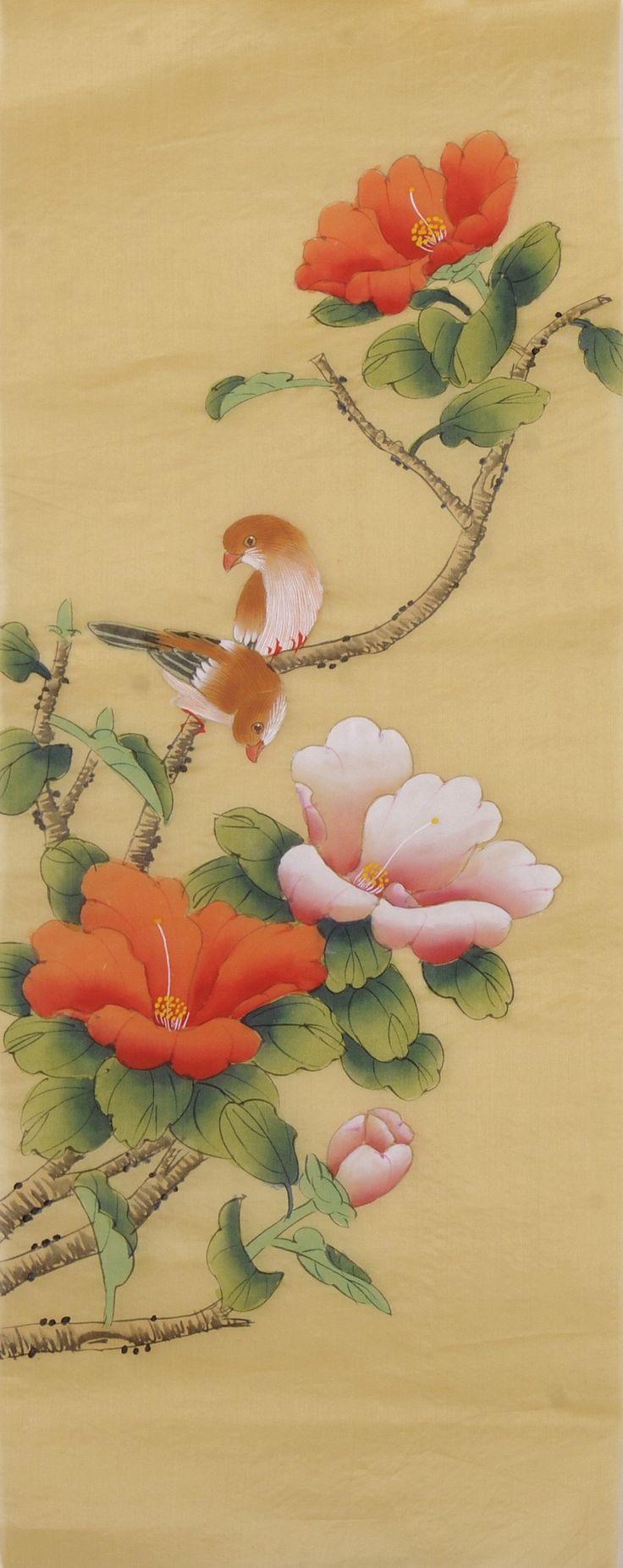 Chinese Hibiscus Painting
