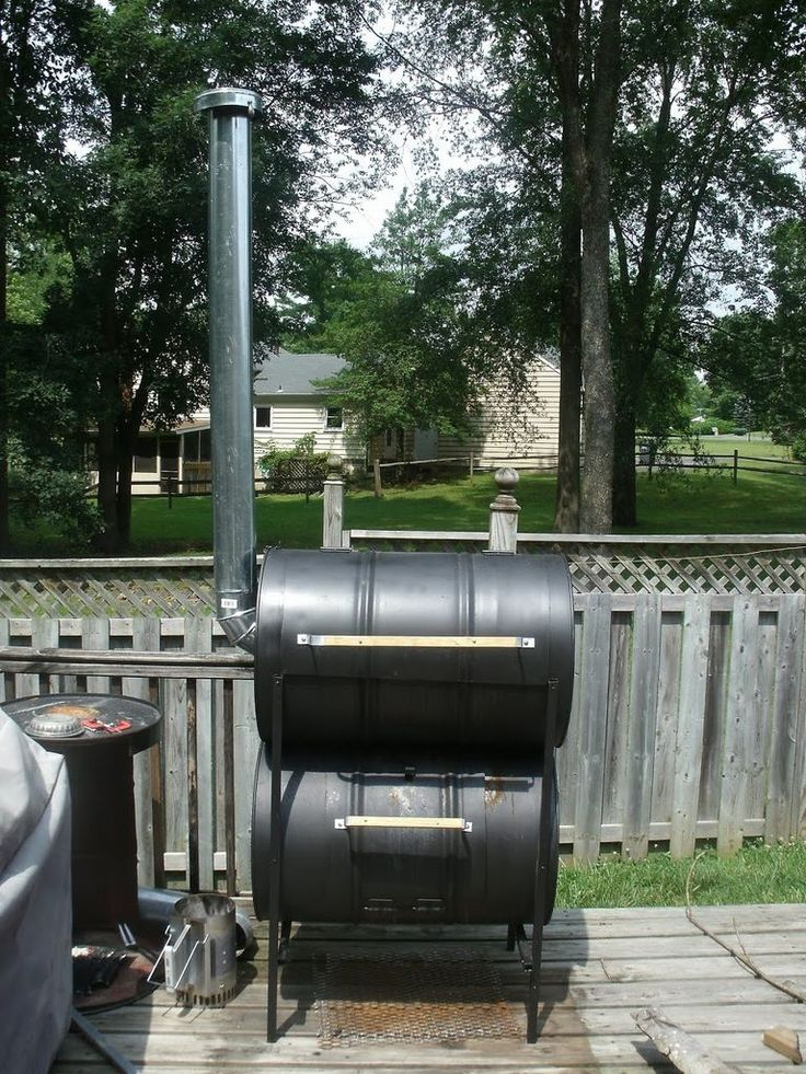 Instructable: The No-Weld Double Barrel Smoker