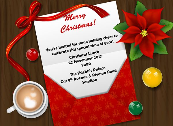 Christmas lunch invite - Google Search