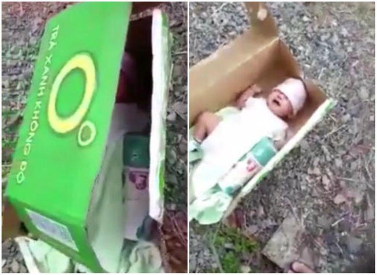 Si-a abandonat bebelusul pe marginea drumului, intr-o cutie de carton! Motivul halucinant pentru care o mama a facut asta