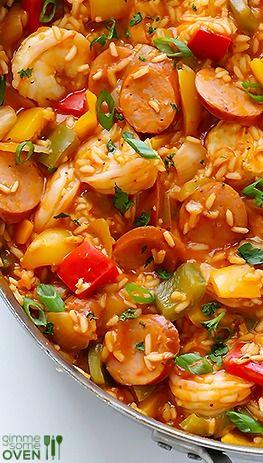 Jambalaya. This is an easy recipe.