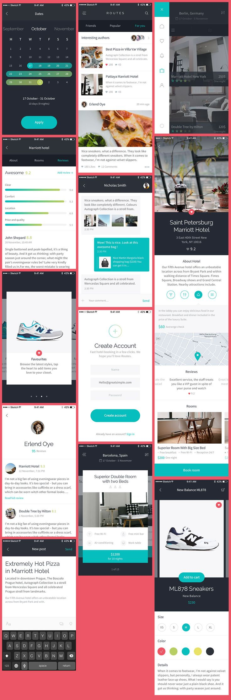 We're offering a sample of the really neat Routes iOS UI Kit. This freebie contains 12 iOS app designs that will give you an idea of how well the UI kit is designed. If you are interested in what the premium version has to offer, we can tell you that it has 100+ high quality …
