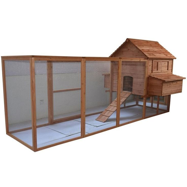Features:  -Large outdoor run for optimal space to roam.  -Wood is well ventilated but keeps your chickens warm and comfortable.  -Sliding window allows controlled airflow for your chickens.  -Easy ac