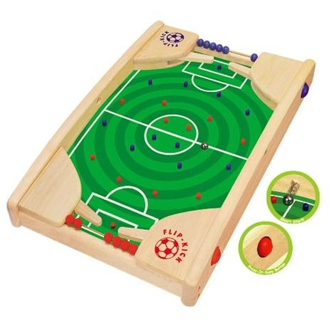 Artiwood Flip Kick          Price: $76.95               The perfect gift for any soccer loving little boy or girl!    The aim of Flipkick is to get the ball through the opponents goal. Start the game by releasing the ball through one of the side holes. Press the right or left flip kick buttons to either kick the ball forward or block the opponents shot. Mark a score by sliding a bead along the score track. Player with the highest score is the winner.