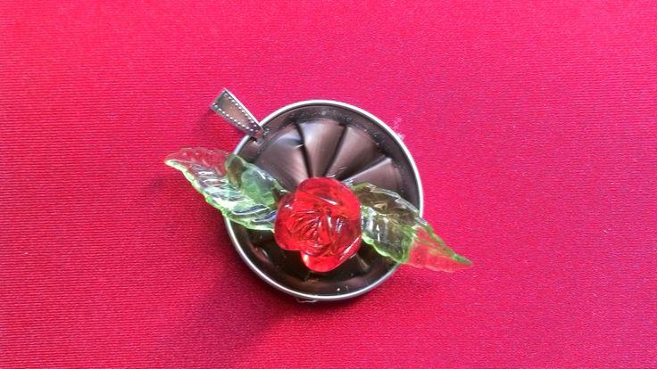 """Pendentif capsule nespresso """"Fleur orange"""" : Pendentif par tine-creations"""