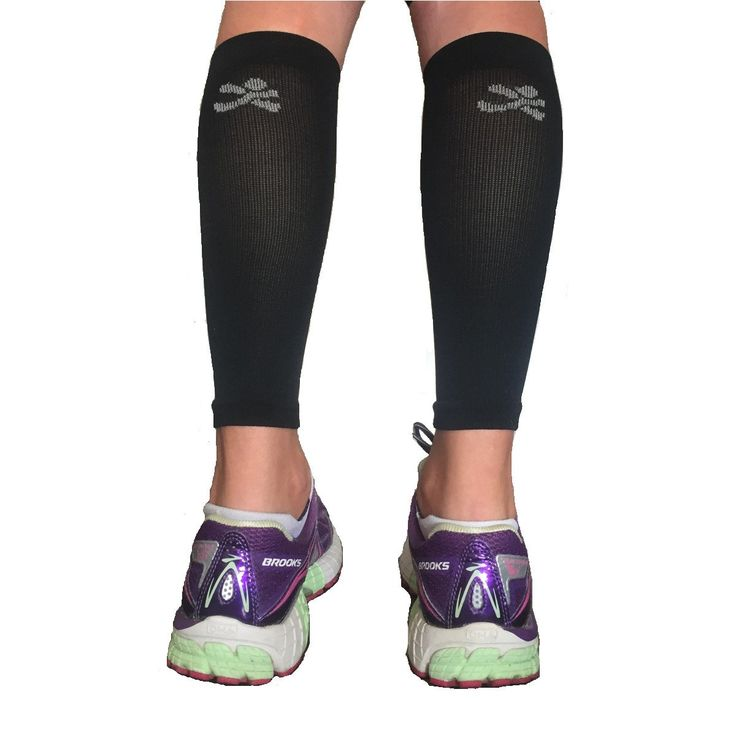 MadSportsStuff Graduated Compression Leg Sleeves (Black/Grey, Large). PERFECT COMPRESSION LEG SLEEVES: Why spend more than you need to for quality compression leg sleeves? These leg sleeves will stabilize muscles and keep them warm which helps to prevent injuries, reduce fatigue and aids circulation. Great for preventing shin splints, and increasing performance in a variety of sports such as running, football, basketball, volleyball, lacrosse, field hockey and more!. ACCURATE SIZING…