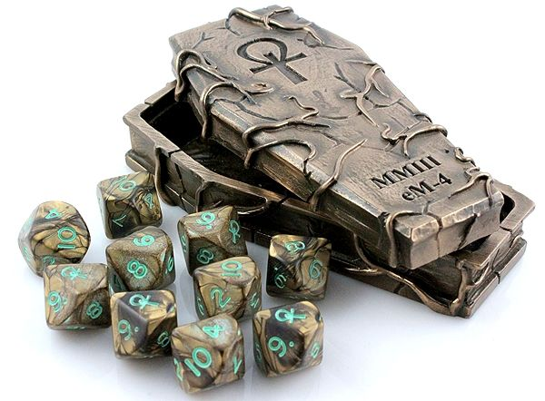 Sarcophagus RPG Dice Box (includes unique ten d10 dice set)