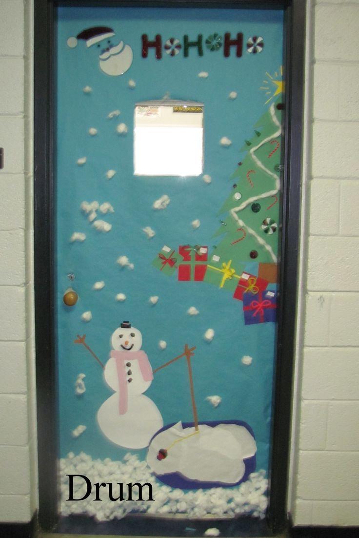Christmas door decorations reindeer - School Christmas Door Contest Winners Christmas Door Decorating Contest Img_0081