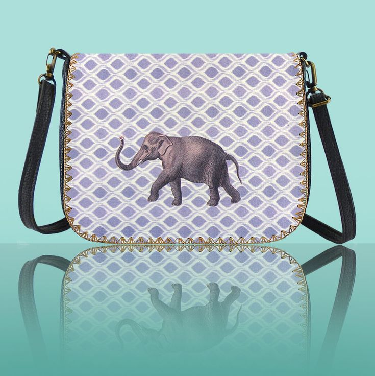 Elephant vegan leather cross body bag by Mlavi Studio. Wholesale available at http://mlavi.com/mlavi-animal-themed-vegan-bag-wallet-and-accessories-wholesale.html #animal #vegan #wholesale #fashion #accessories #gift