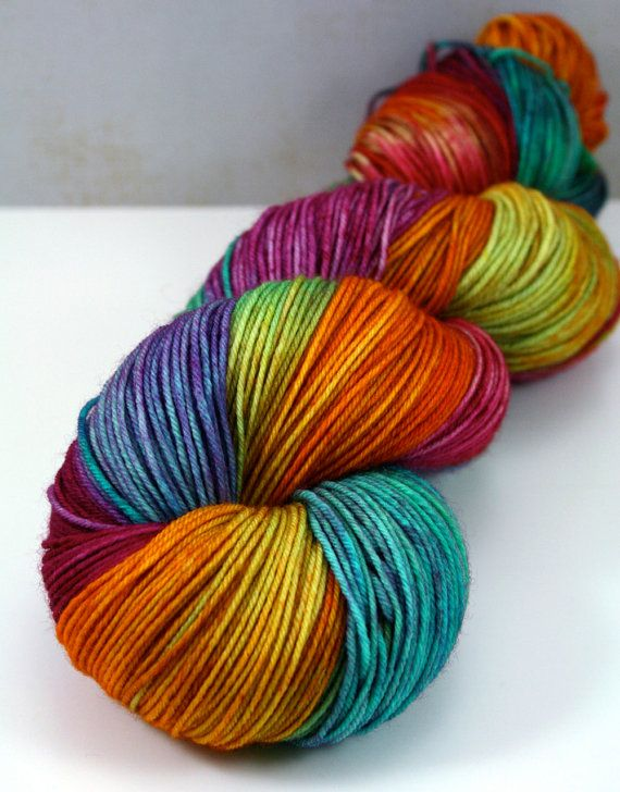 Tickle Toes  Hand Dyed Sock Yarn