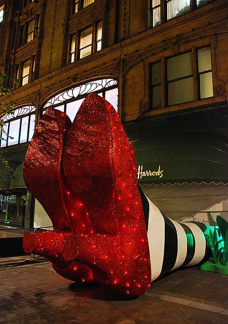 Harrods: Wicked Witch Of The East London...I just love this!!