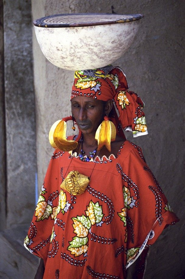 Fulani woman, etnische groep in Afrika