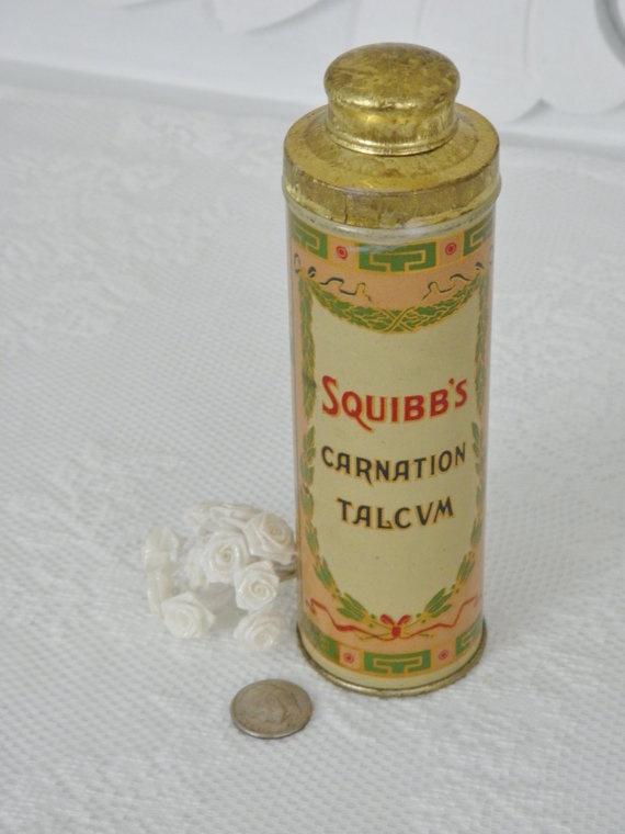Vintage Talcum Powder Tin 20s Art Deco Vintage Tins
