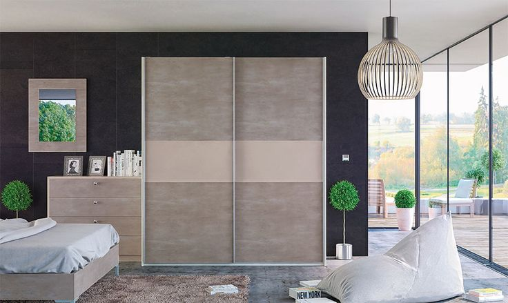 Glidor light concrete cashmere fitted wardrobe. Stunning sliding wardrobe made to measure and fit your available space. It will look incredible in your home office or bedroom, and provide some much need storage space.