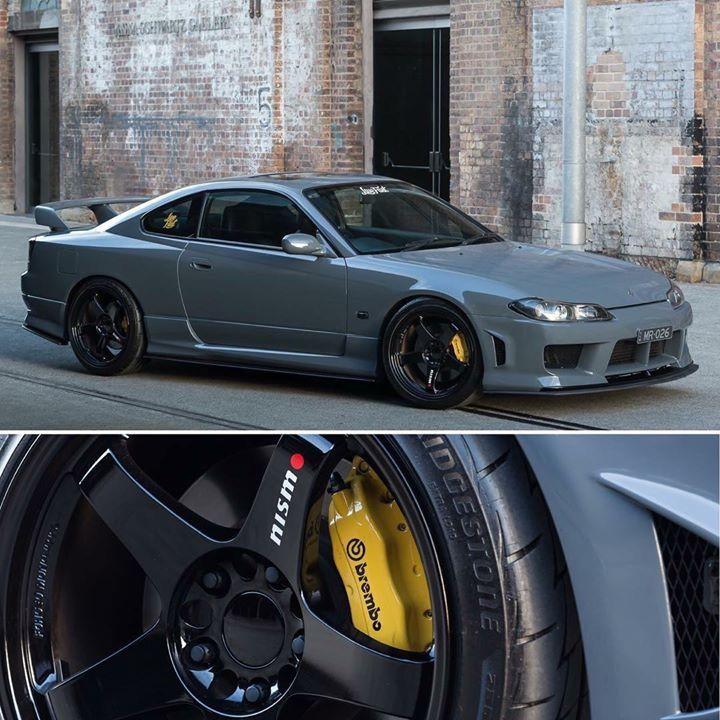 Gray Nissan Silvia S15