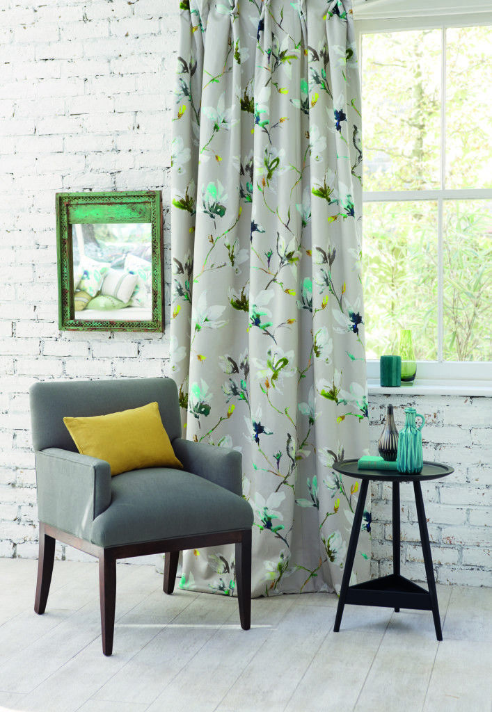 Romo Saphira Green from Rodgers of York - How to style your home with florals. #interiors
