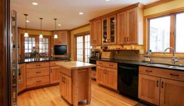 48 best images about kitchen on pinterest honey oak for Early american kitchen cabinets