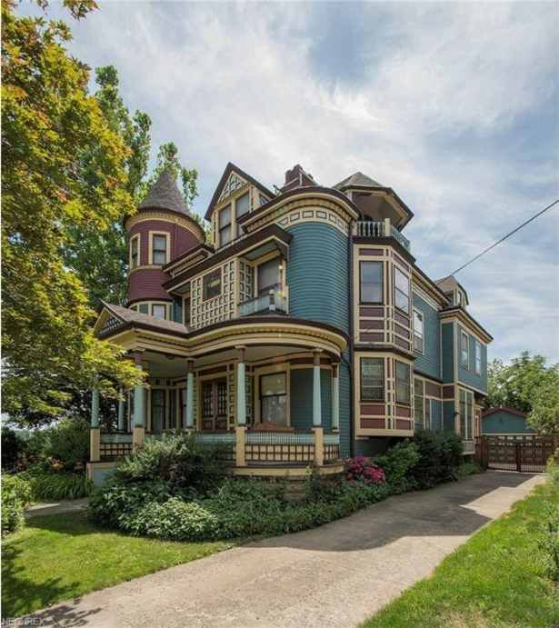 Tremont's Gateway House. Meticulously and painstakingly preserved throughout the years, what is perhaps the most magnificent Queen Anne Victorian in the city of Cleveland seeks its 5th owner. Built between 1894 and 1896 this spectacular home is a time capsule of a bygone era and features 7 bedrooms, 5 fireplaces, 8 sets of pocket doors, original bevel and stained glass, 11+ foot ceilings on first and 10 foot on second floor, front and back stairways, inlaid wood floors and much, much more...